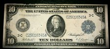 Buy 1914 $10 Federal Reserve Note Philadelphia District (VF) #02