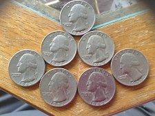 Buy 7 Lot of 1965-1969 washington quarters