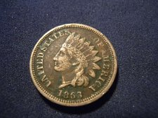 Buy 1863 INDIAN HEAD CENT (A177)
