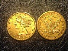 Buy CORONET HEAD GOLD  $5 HALF EAGLE WITH MOTTO