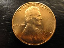 Buy 1940-S Lincoln Cent MS-64 (Near Gem) RED