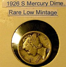 Buy choice Mercury SILVER dime RARE Low Mintage,