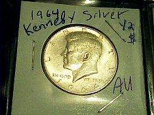 Buy 1964 Kennedy Silver 1/2 Dollar-90% US Silver coin!!