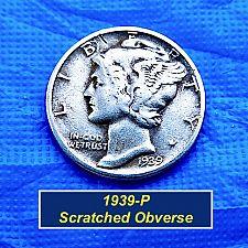"Buy 1939-P  Mercury Dime ⭐️ Circulated ⭐️ ""VF Condition ⭐️(3996)"