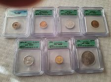 Buy Lot of 7 High Grade ICG Foreign coins Ch to Superb Gem $49.95 with free shipping