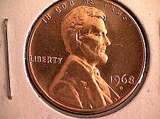 1968 D Lincoln Memorial Penny Coin Value Prices, Photos & Info