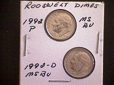 Buy 1992-P & 1992-D  ROOSEVELT DIMES