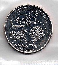 2000 P South Carolina State Quarter Coin Value Prices