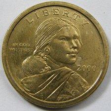 2000 P Sacagawea Dollar Golden Dollar Coin Value Prices