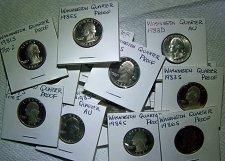 Buy Collectors Lot of 15 Washington Quarters, AU - Proof