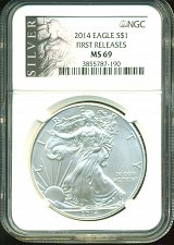 Buy 2014 American Silver Eagle - NGC MS69 - First Releases