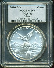 Buy 2010 - Mo Mexico Libertad - PCGS MS69