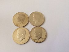 Buy Four 1985 S Kennedy Half Dollars