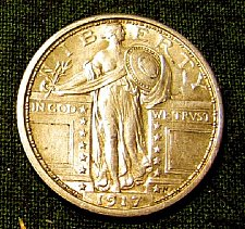 Buy 1917 Type 1 P Standing Liberty QuarterBU-Special 48 hr. sale ONLY!! A-06