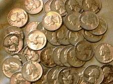 Buy $10.00 in washington quarters/40 quarters.  1955 to 1964