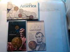 Buy COINS OF AMERICA - CASED 1909-VDB WHEAT CENT AND REPLICA TOKEN