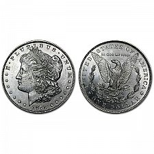 1878 Morgan Silver Dollars 7 Tail Feathers Reverse Of