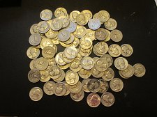 Buy 88 Washingon Quarters   58 quarters 1940 to 1949 and 30 quarters 1950 to 1964, a