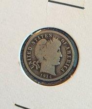 Buy 1914 Barber Dime (90% silver)