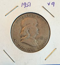 Buy 1951 Benjamin Franklin half-dollar