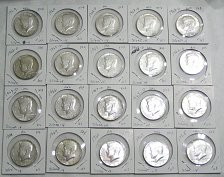 Buy Lot of (20) 1965-1969 Kennedy Half Dollars 40% Silver AU/BU