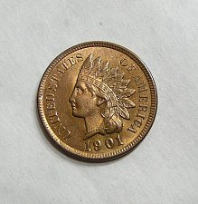 Buy 1901 Indian Head Cent - GEM BU RED!