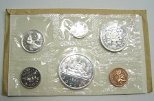 Buy 1963 Canadian Silver Mint Set 6 Coins Uncirculated Proof-Like