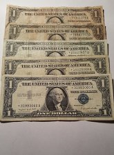 Buy $1 Silver Certificate Star Notes Lot of 5