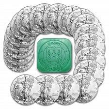 Buy Roll of 20 - 2015 1 Troy Oz .999 Silver American Eagle Coins SKU33772