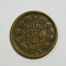 Buy 1863 Civil War Token - Army and Navy - VF Condition