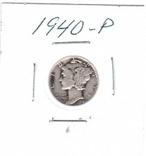 Buy 1940 P Mercury Dime - Circulated Coin