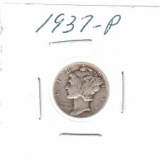 Buy 1937 P Mercury Dime - Circulated Coin