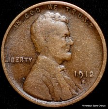 Buy 1912-S Semi Key-date Lincoln Wheat Cent!!