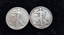 Buy Lot of 2 Walking Liberty Half Dollars 1937 S and 1940 S