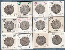Buy Walking Liberty (12) collection : Mixed Conditions / MC-19