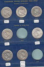 Buy Canadian Silver Dollar Collection of 26 coins-  Silver   /  MC-10