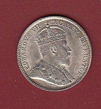 Buy Canadian: 1910   Edward VII Nickel  AU-55  /   MC33