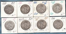 Buy Walking Liberty (8) collection : Mixed Conditions / MC-20