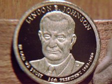 Details about  /2015 s Cameo Proof Lyndon B Johnson Presidential $1 Coin 36th President 1963-69