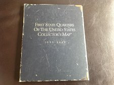 First State Quarters Of The United States Collectors Map Folder 1999 2008