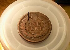 """Buy 1891 Indian Head Cent Variety  COIN - Reverse Error Partial """"O"""" in The word One"""