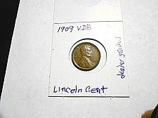 Buy 1909 VDB  Lincoln Wheat Cent   Uncirculated  Brown   (dealer graded)