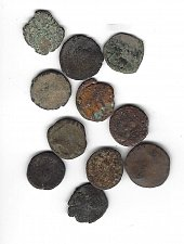 Buy II  Uncleaned Ancient Roman Coins - Smaller Average 13 -14 mm Selling as a lot.