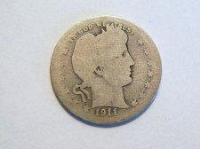Buy 1911-S Silver Barber Quarter