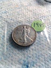 Buy 1945 WALKING LIBERTY HALF