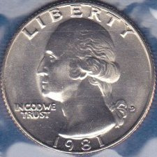 1981 D Washington Quarter Coin Value Prices, Photos & Info