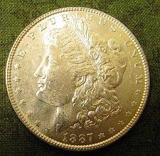 Buy 1887-P Morgan Dollar GEM BU#54-Always BELOW E Bay prices!!
