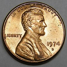 1974 D Lincoln Cent - for sale, buy now online - Item #85675