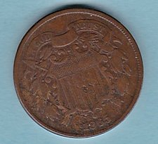 Buy 1865 2c TWO CENT Piece *** good details*****(n199))