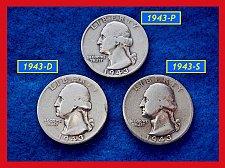 Buy 1943-PDS  3–COIN SET •••••  Washington Quarters     (#2273)